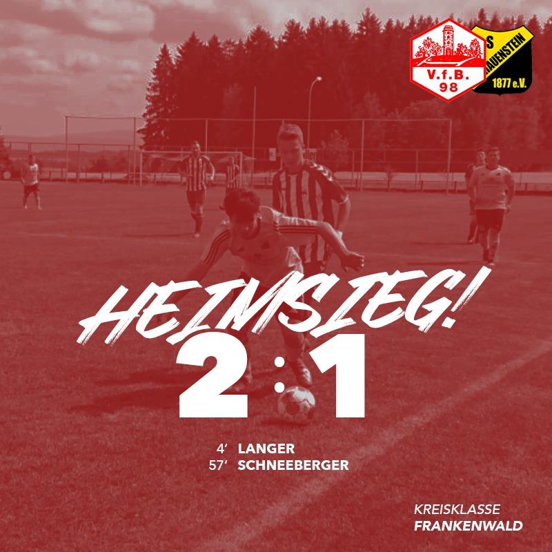 Der VfB gewinnt das Derby gegen Schauenstein II!