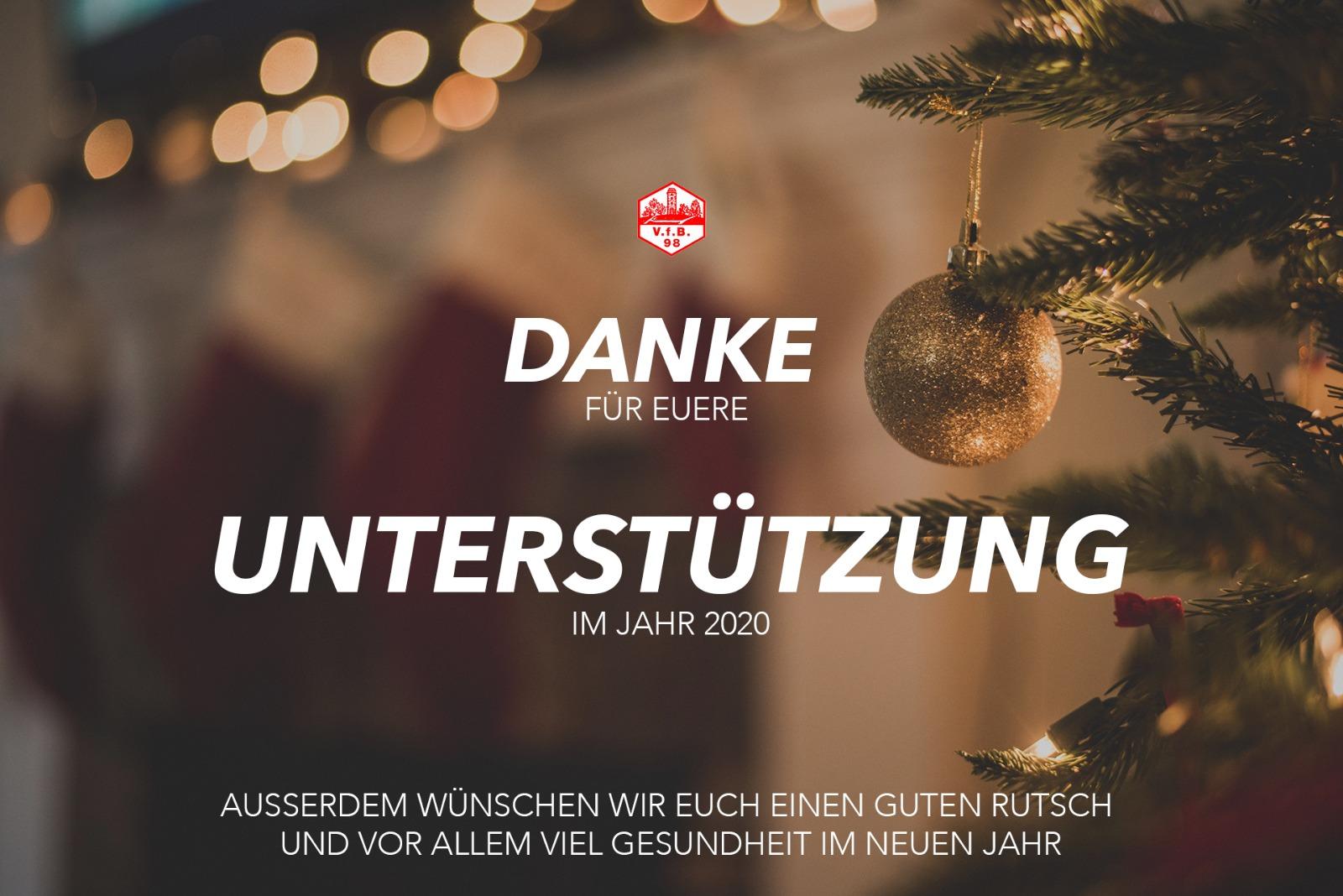 Der VfB wünscht Euch allen frohe Weihnachten!